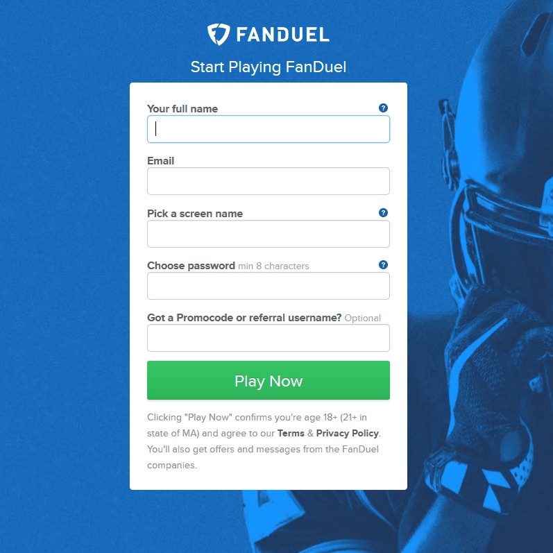 FanDuel DFD registration