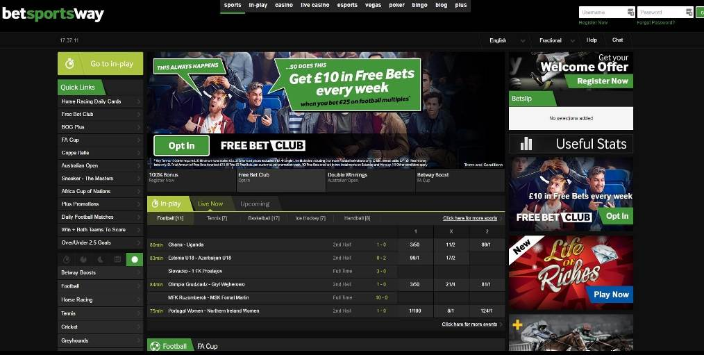 Betway online sports betting sports betting teaser calculator