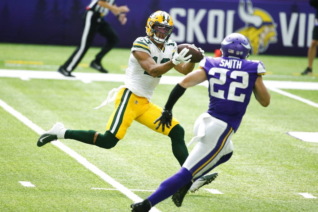 Allen Lazard Nfl Player Props For Week 10 Packers Vs Jaguars 11 15 2020