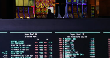 Super Bowl handle how much money gambled spent betting